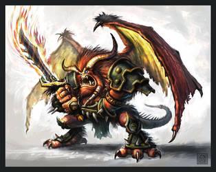 Warcraft Demon after Metzen by VegasMike