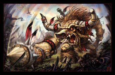 Tauren Warrior by VegasMike