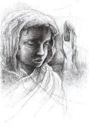 Felt pen portrait by Sosak