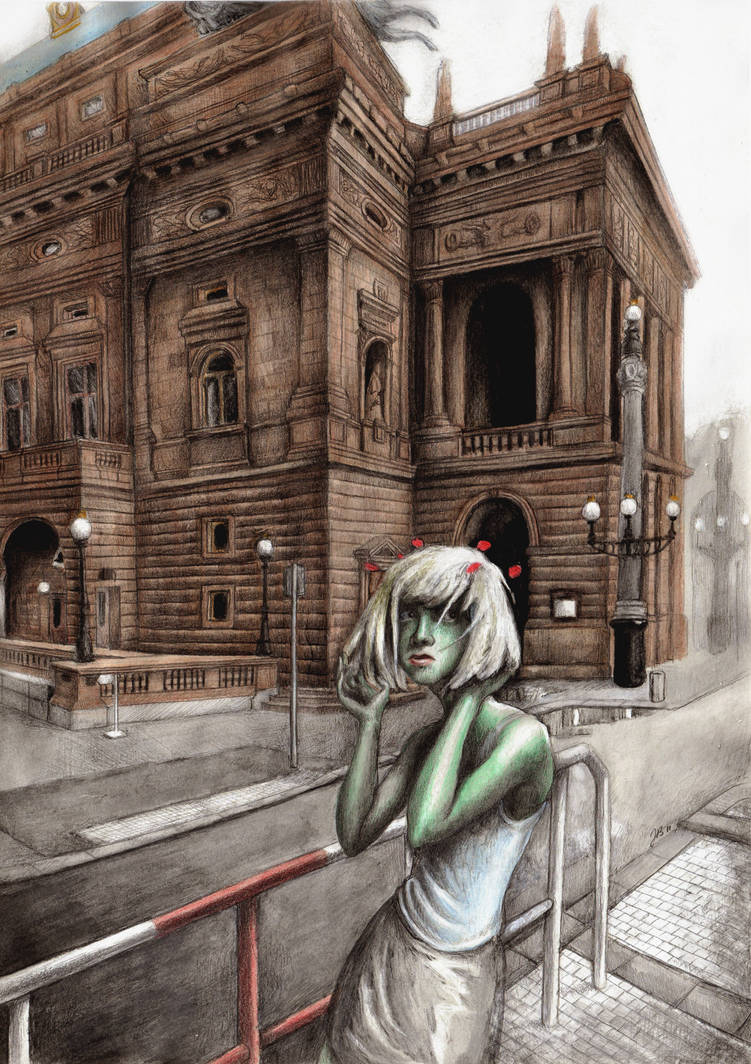 Fairy in front of the National theatre by Sosak