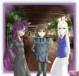 Larxene, Melvina, and Helen by Xorte-Renshe