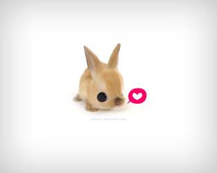 Desktop bunny by daskull