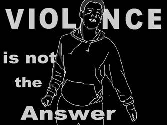 Violence is not the answer by Weatbix