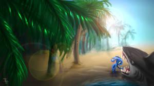 League of Legends - Fizz Speedpaint by Baeshie
