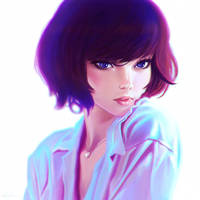 Neon Lights - Ilya Kuvshinov's tutorial by lilyrjensen