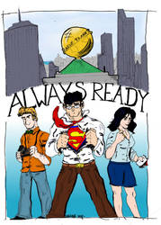 The Daily Planet Crew by ComicAenne