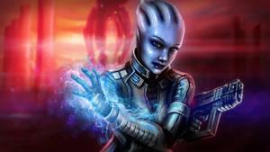 Funart- Liara of Mass Effect by minielche