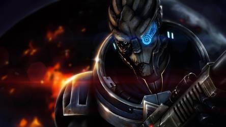 Fan Art - Garrus of Mass Effect by minielche