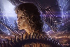 Ripley of Alien - Fan Art Fifteenth by minielche