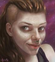 Self-Portrait by minielche