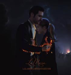 Lucifer and Chloe by LaLaMora