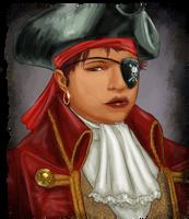Pirate Jill's Portrait by JordanGreywolf