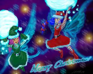 Christmas Fairy Snowball Fight by JordanGreywolf