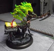 Customized Cryx Soulhunter (Warmachine) by JordanGreywolf