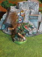 Chieftain Rainmaker (Iron Kingdoms Gatorman) by JordanGreywolf