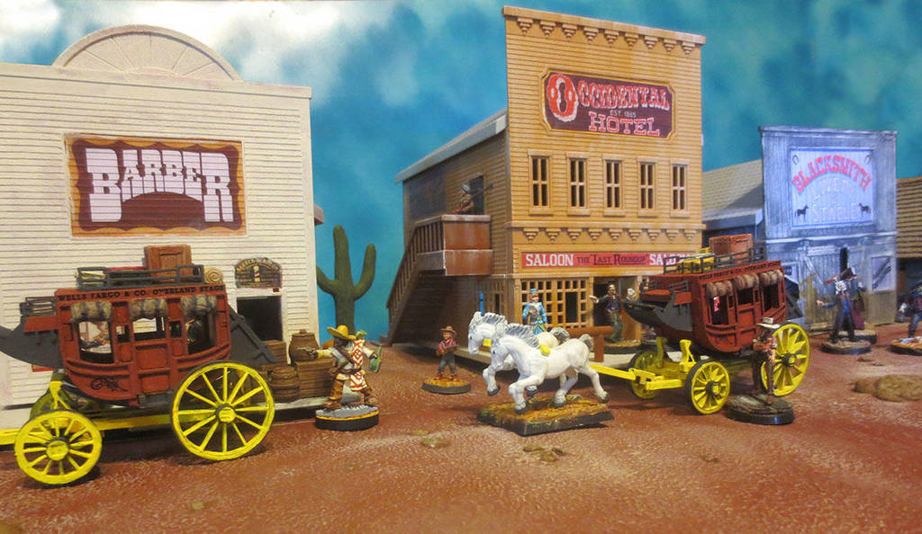 Stagecoaches at the Occidental Hotel by JordanGreywolf