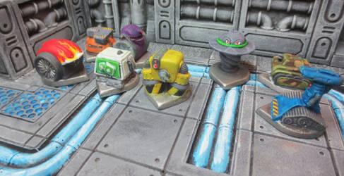 Robo Rally Robots by JordanGreywolf