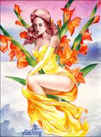Gladiolus Gold by maria-jaujou