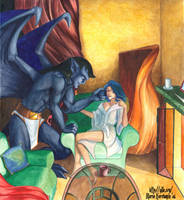 Gargoyles :: Goliath and Elisa by maria-jaujou