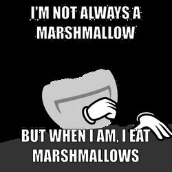 I'm not always a marshmallow by mattyhex