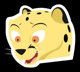 Happy Cheetah Sticker by mattyhex