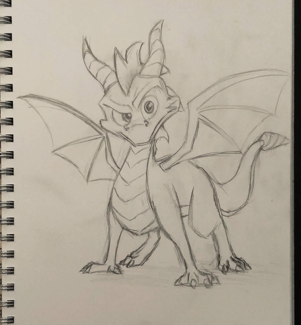 Spyro Sketch by mattyhex