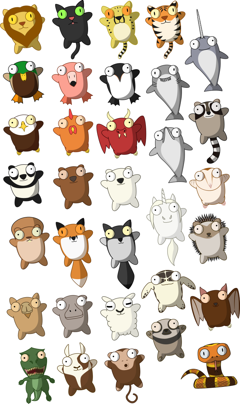 Plushie Selection [Commission] by mattyhex