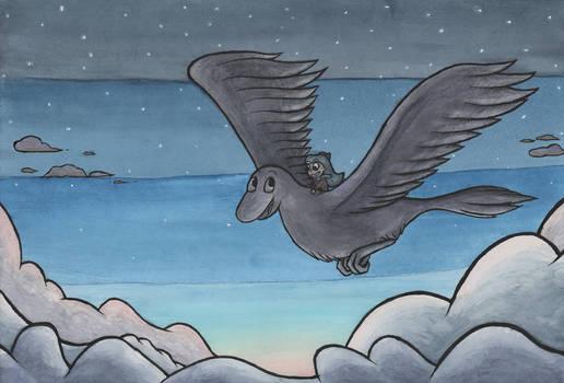 Hilda And The Big Bird by mattyhex