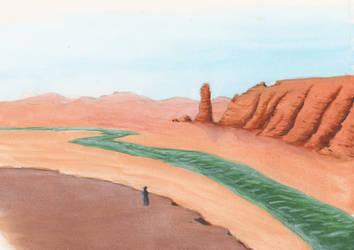 Desert Cliff by mattyhex