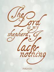 Psalm 23:1 - Poster by mostpato