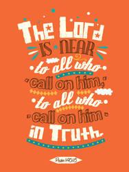 Psalm 145:18 - Poster by mostpato