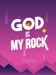 Psalm 18:2 - Christian Poster by mostpato