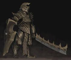 Golden Armor by ArielPerezArt