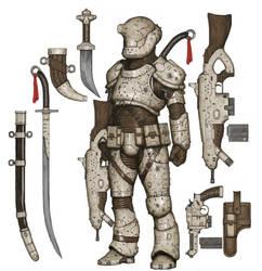 Sci-Fi Warrior by ArielPerezArt