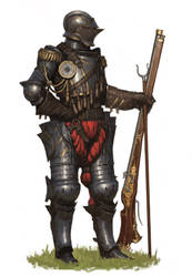Musket Knight by ArielPerezArt
