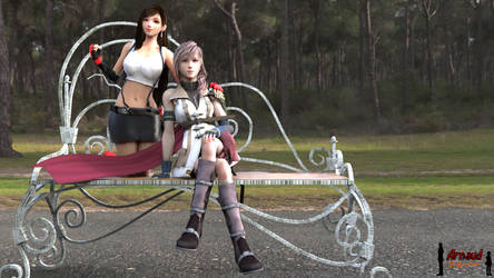 [Re-Upload] Request : Tifa And Lightning by ADS-04