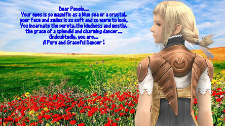 Penelo, a Graceful Dancer (With Poem) by ADS-04