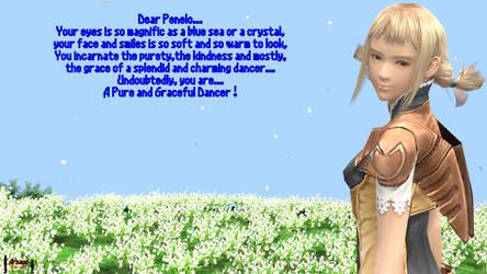 Penelo, a Graceful Dancer (Alternatif)(With Poem) by ADS-04