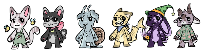 Cheap Chibi Adopts by Goopy-Ghost