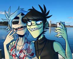 Selfie - Gorillaz by Ashesfordayz