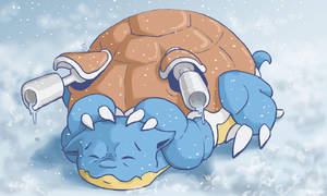 009: 'Snowy' Blastoise by Rikkoshaye