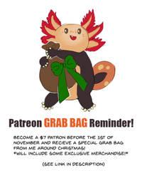 Patreon Grab Bag Reminder! by Rikkoshaye