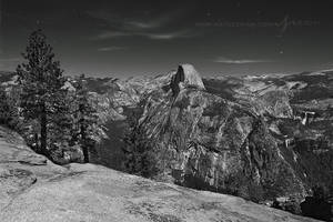 Half Dome by Moonlight by Nate-Zeman
