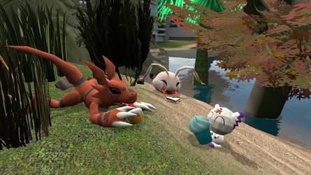 garrymod: Digimon snack time by Shatoyarn-MoonGoddes