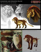 DDO: Dire Lion by Spiralfish