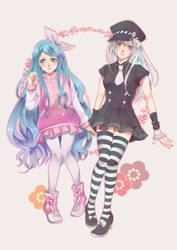 Art Raffle: Ry and Yumeka by NatsuPi