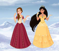 Belle and Pocahontas Christmas by M-Mannering