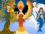 Elemental Goddesses by M-Mannering
