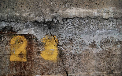 cement wall with numbers by sami6877