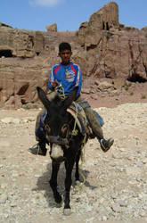 Riding donkey by Windyme
